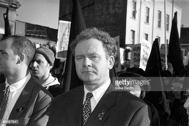 Sinn Fein leader Martin McGuinness at a rally in North London to commemorate the 25th anniversary of Bloody Sunday 25th January 1997