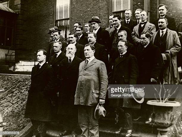 Sinn Fein members of the Dail Eirann which is now busily engaged in legislating for Ireland in the mansion house in Dublin They are the Sinn Feinners...