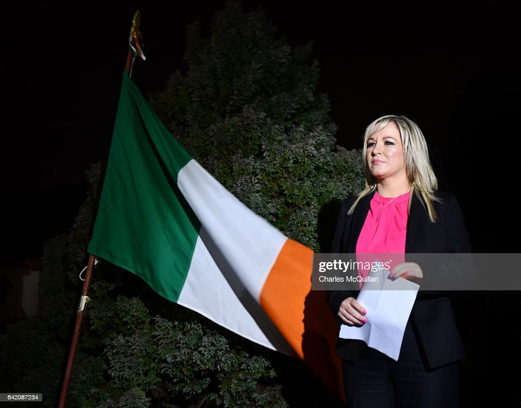 Michelle O'Neill Attends A Republican Vigil For IRA Members Killed By The SAS