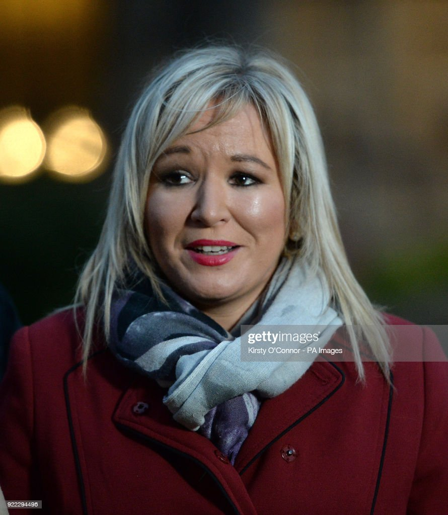Sinn Fein's vice president Michelle O'Neill on College Green in Westminster, London.