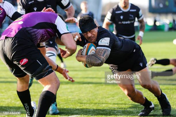 Sinoti Sinoti of Newcastle Falcons in action during the Greene King IPA Championship match between Newcastle Falcons and Cornish Pirates at Kingston...