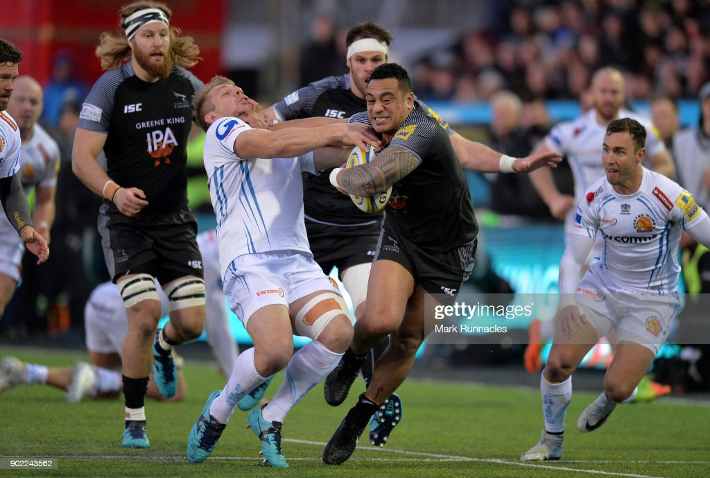 Newcastle Falcons v Exeter Chiefs - Aviva Premiership : News Photo