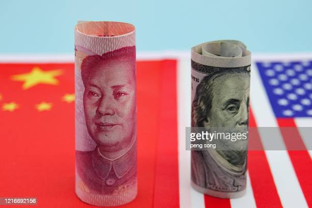 sino-us trade war - chinese currency stock pictures, royalty-free photos & images