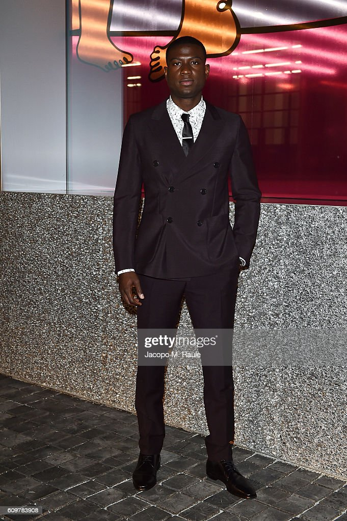 Sinqua Walls attends Miuccia Prada and Patrizio Bertelli private screening of a short movie by David O. Russell and dinner party at Fondazione Prada during Milan Fashion Week Spring/Summer 2017 on September 22, 2016 in Milan, Italy.