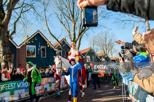 Sinterklaas arrives by steamboat to great fanfare on November 17th in Zaanstad Netherlands Like each year the first Saturday after 11 November the...