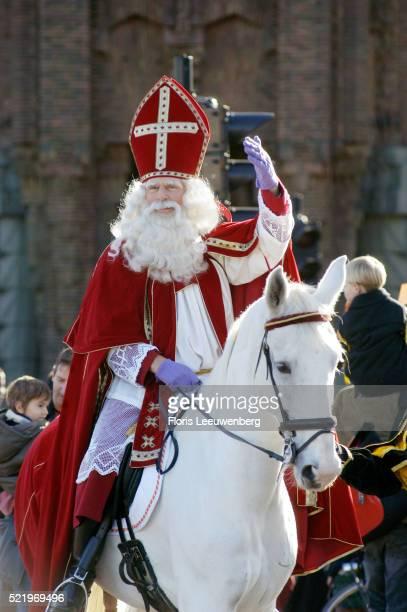 Sinterklaas Arrives in Amsterdam