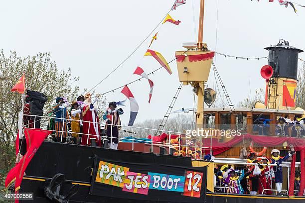 Sinterklaas arriving in The Netherlands on the Pakjesboot