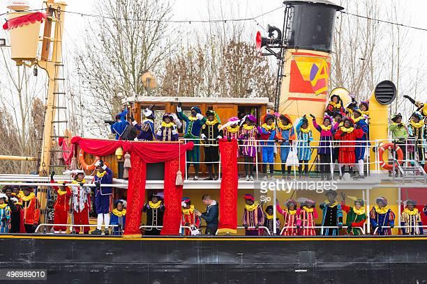 Sinterklaas arriving in The Netherlands