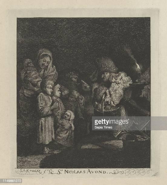 Sinterklaas evening SantaClaus Simon Andreas Krausz 1770 1825