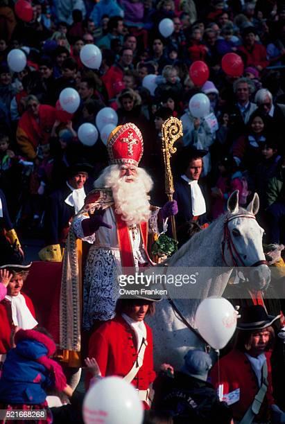 Sinterklaas Riding in Parade