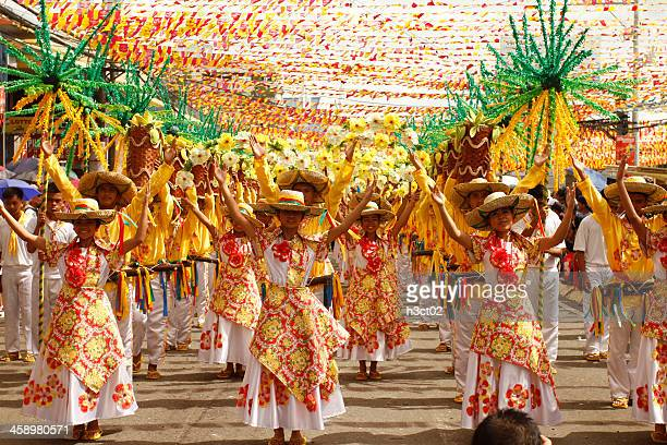 Sinulog Dancers in the Streets of Cebu