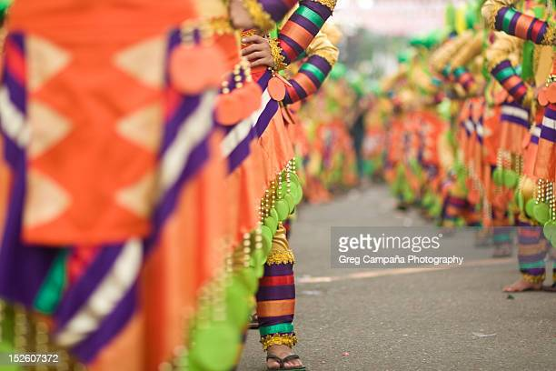 sinulog festival - sinulog festival stock photos and pictures