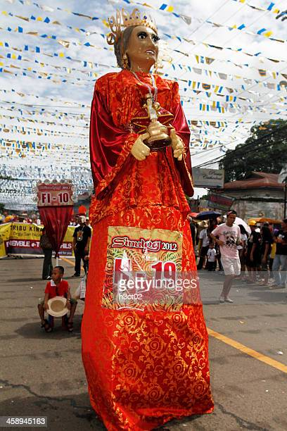 sinulog higante - sinulog festival stock photos and pictures
