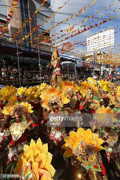 sinulog performance - sinulog festival stock photos and pictures