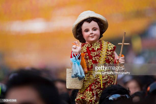sinulog procession - sinulog festival stock photos and pictures