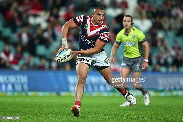 Sio Siua Taukeiaho of the Roosters in action against the Dragons during the round 15 NRL match between the Sydney Roosters and the St George...