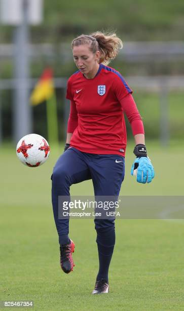 Siobhan Chamberlain of England in action during the England Training Session at Sporting 70 on August 2 2017 in Utrecht Netherlands