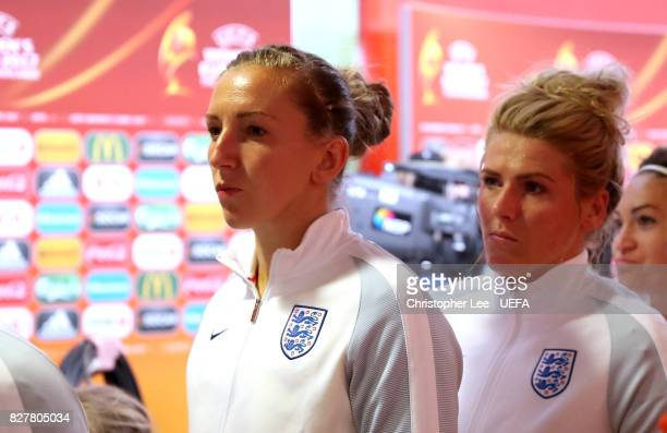 Siobhan Chamberlain of England in the tunnel before kick off during the UEFA Women's Euro 2017 Semi Final match between Netherlands and England at De...