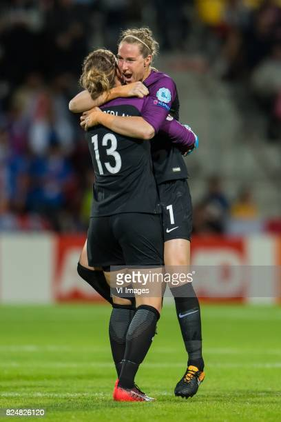 Siobhan Chamberlain of England women goalkeeper Karen Bardsley of England women during the UEFA WEURO 2017 quarter finale match between England and...