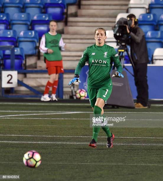 Siobhan Chamberlain of Liverpool Ladies during the match between Everton Ladies and Liverpool Ladies at Select Security Stadium on September 22 2017...