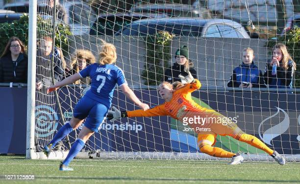 Siobhan Chamberlain of Manchester United Women in action during the WSL match between Manchester United Women and Durham Women at New Ferens Park on...