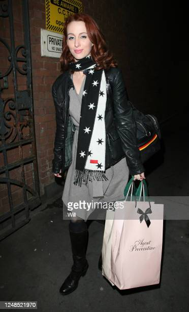 Siobhan Donaghy is seen leaving the Duke of York Theatre after appearing in 'Rent' on October 19, 2007 in London, England.