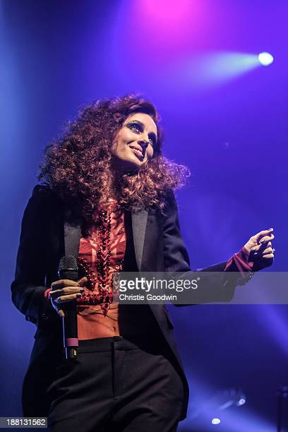 Siobhan Donaghy of Mutya Keisha Siobhan performs on stage at Shepherds Bush Empire on November 15 2013 in London United Kingdom