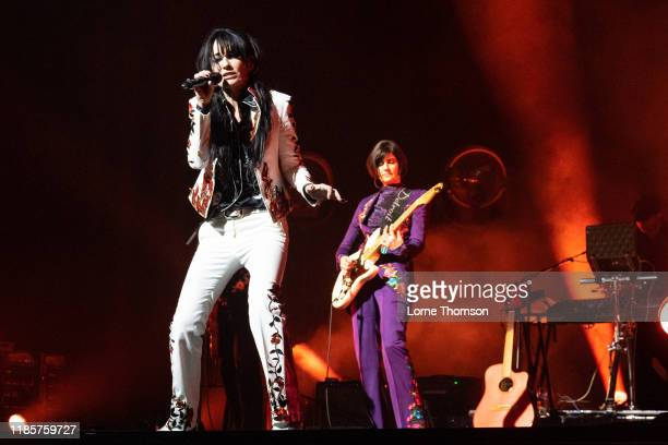 Siobhan Fahey and Marcella Detroit of Shakespears Sister perform at Palladium Theatre on November 05 2019 in London England
