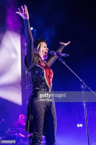 Siobhan Fahey of Bananarama performs at Eventim Apollo on November 19 2017 in London England