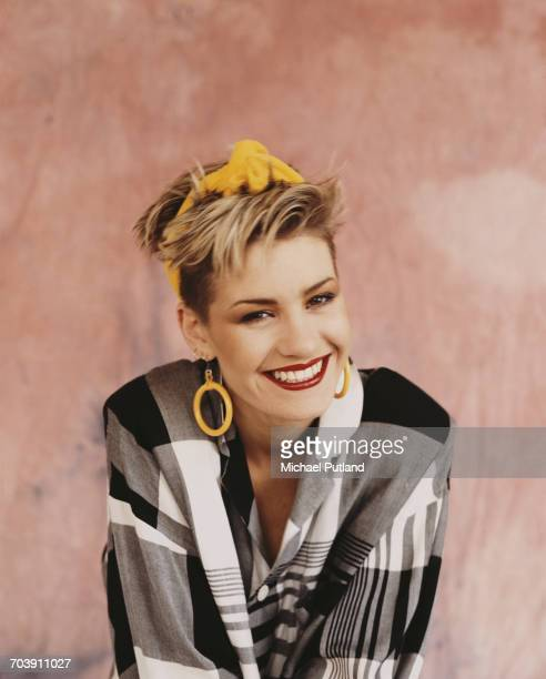 Siobhan Fahey of British female pop vocal group Bananarama London September 1984