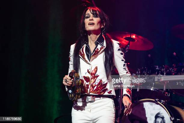 Siobhan Fahey of Shakespears Sister performs at Palladium Theatre on November 05 2019 in London England