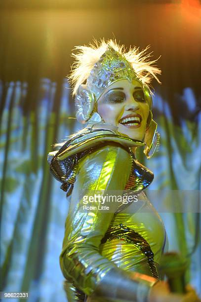 Siobhan Fahey of Shakespears Sister performs at the Bloomsbury Ballroom on April 22 2010 in London England