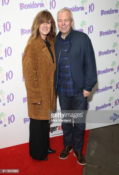 Siobhan Finneran and Steve Pemberton during a photocall for ITV show 'Benidorm ' which is celebrating it's 10th anniversary at The Curzon Mayfair on...