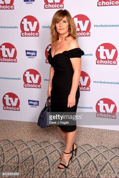Siobhan Finneran arrives at the TV Choice Awards at The Dorchester on September 4 2017 in London England