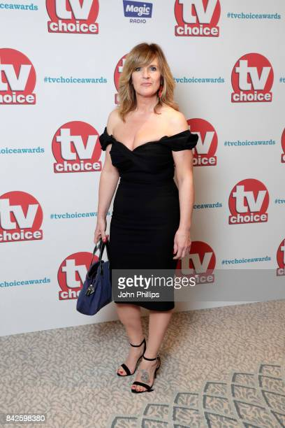 Siobhan Finneran arrives for the TV Choice Awards at The Dorchester on September 4, 2017 in London, England.