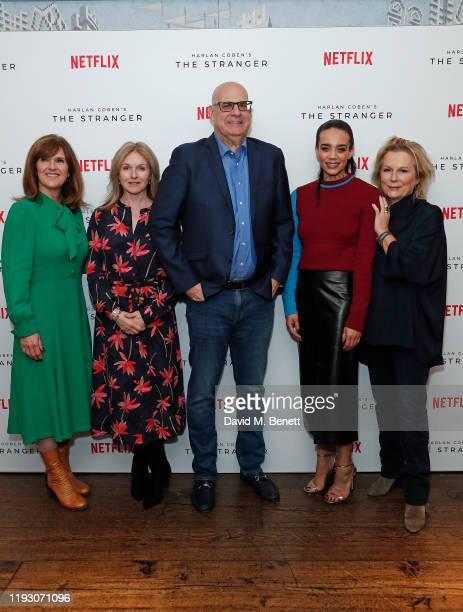 Siobhan Finneran, Dervla Kirwan, Harlan Coben, Hannah John-Kamen and Jennifer Saunders attend 'Harlan Coben's The Stranger' screening and Q&A, which...