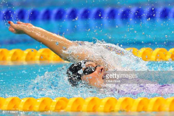 Siobhan O'Connor of Great Britain during the Women's 200m Individual Medley heats on day ten of the Budapest 2017 FINA World Championships on July 23...
