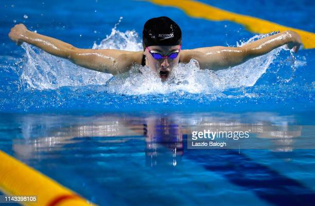 Siobhan O'Connor of Great Britan competes in the Women's 200m Individual Medley during day two of the FINA Champions Swim Series at Duna Arena on May...