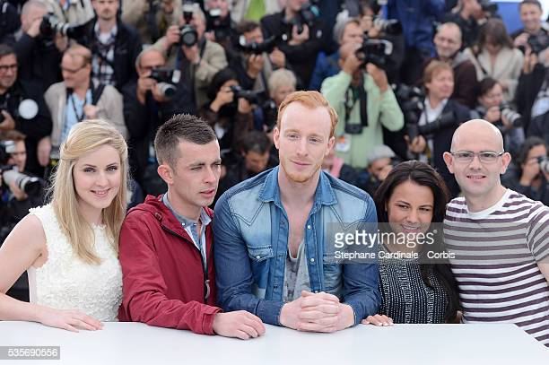 Siobhan Reilly Paul Brannigan William Ruane Jasmin Riggins and Gary Maitland at the photo call for The Angel's Share during the 65th Cannes...