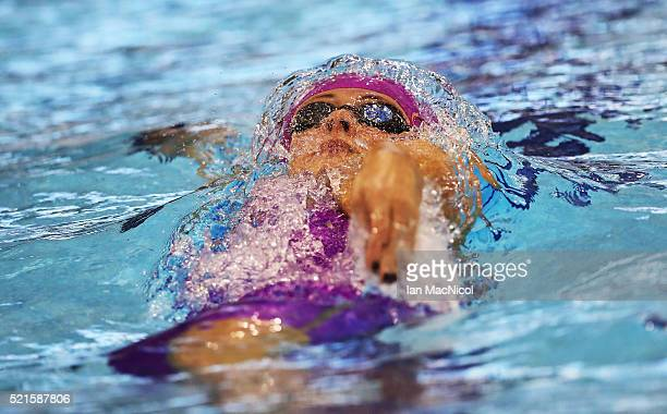 Siobhan-Marie O'Connor competes in the Women's 200m IM during Day Five of The British Swimming Championships at Tollcross International Swimming...