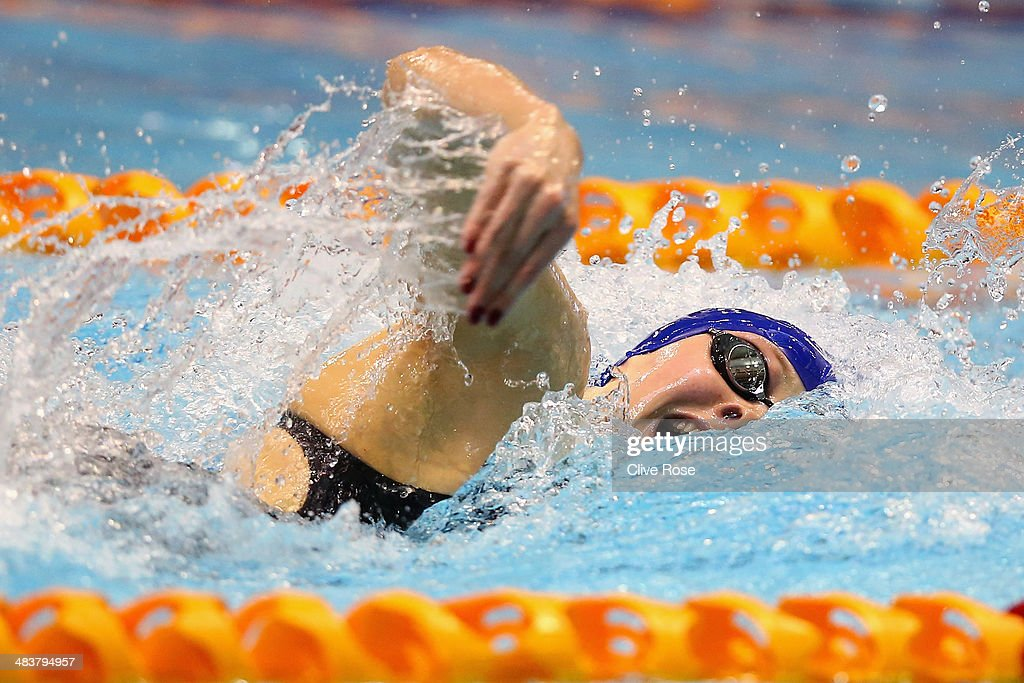 Siobhan-Marie O'Connor in action during the Women's 200m Freestyle Final on day one of the British Gas Swimming Championships 2014 at Tollcross International Swimming Centre on April 10, 2014 in Glasgow, Scotland.