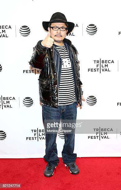 Sion Sono at Madly Premiere 2016 Tribeca Film Festival at Chelsea Bow Tie Cinemas on April 14 2016 in New York City