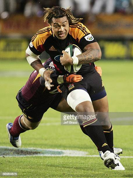 Sione Lauaki of the Chiefs in action during the round four Super 14 match between the Chiefs and the Queensland Reds played at Waikato Stadium March...