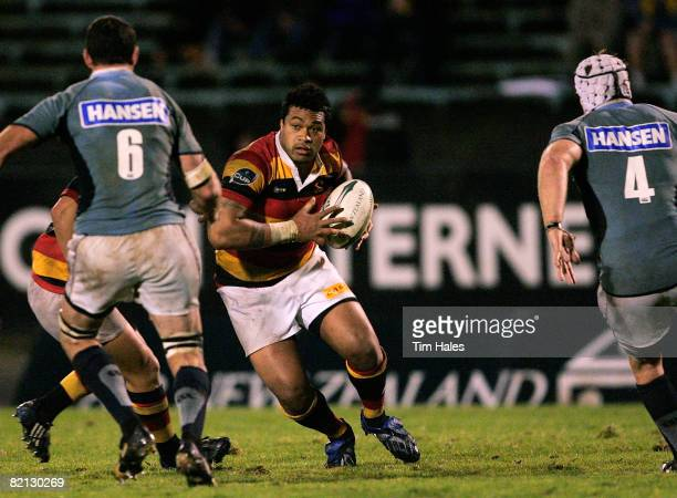 Sione Lauaki of Waikato makes a run during the Air New Zealand Cup match between Northland and Waikato at Okara Park on July 31 2008 in Whangarei New...