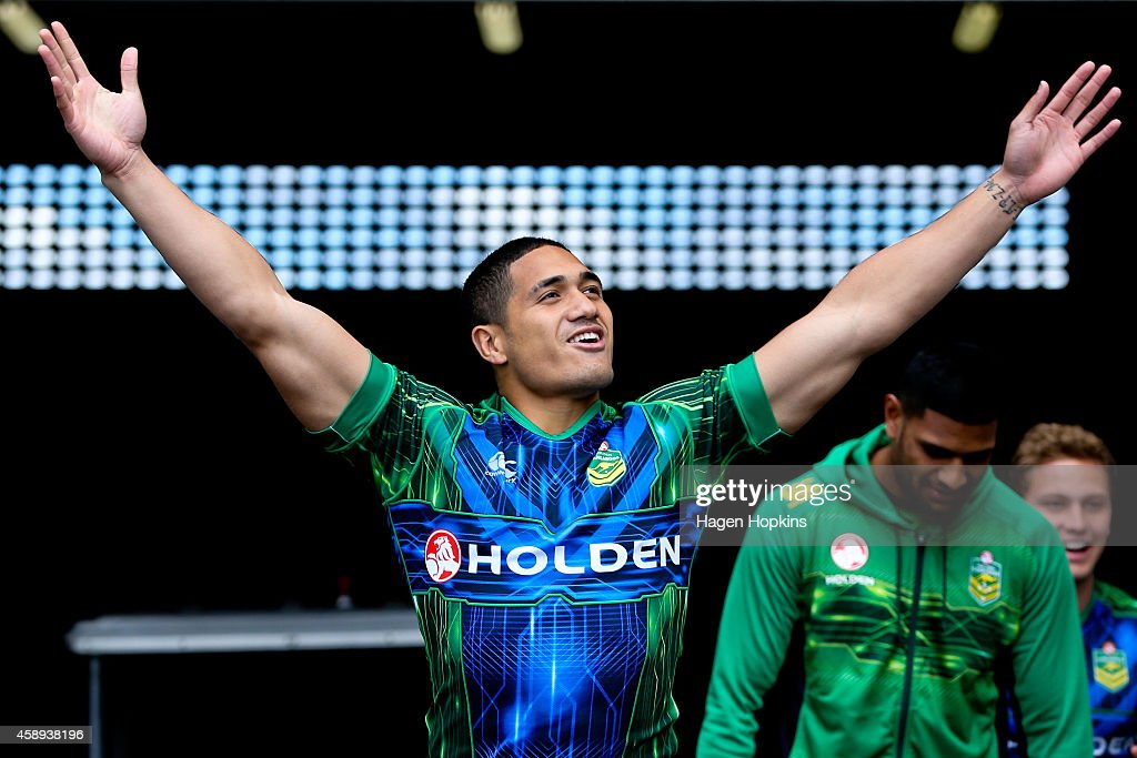 Sione Mata'utia exits the players' tunnel during an Australian Kangaroos training session at Westpac Stadium on November 14, 2014 in Wellington, New Zealand.