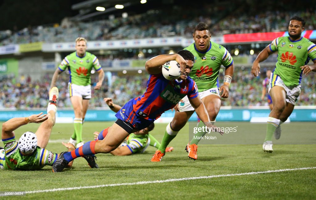 NRL Rd 2 - Raiders v Knights : News Photo
