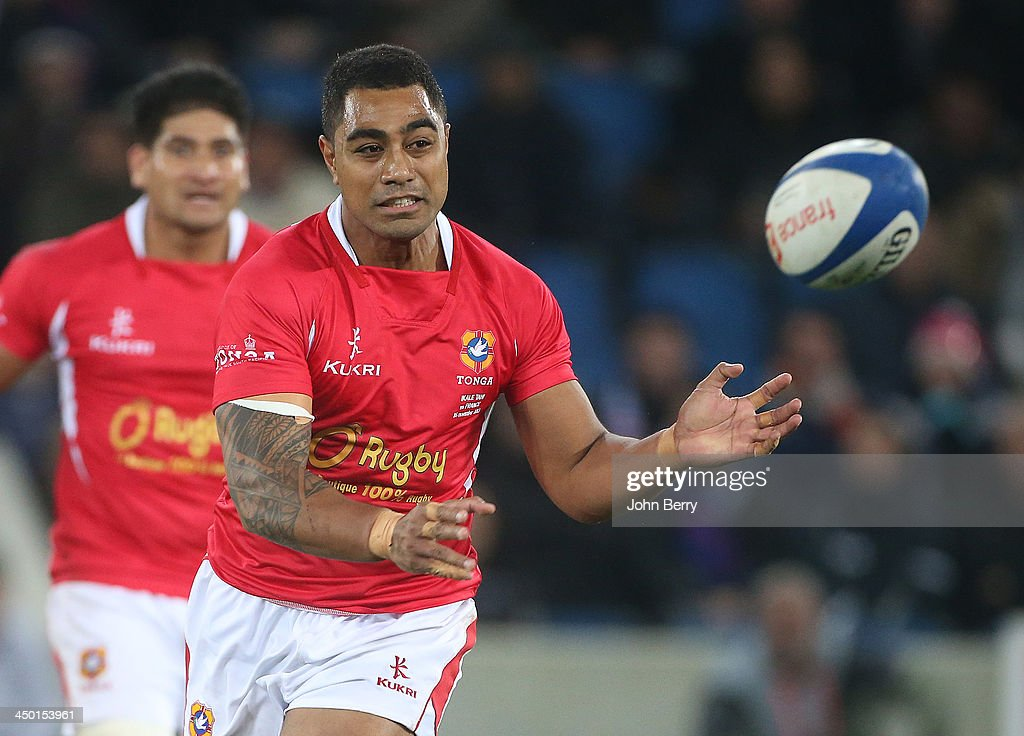Sione Piukala of Tonga in action during the international match between France and Tonga at the Oceane Stadium on November 16, 2013 in Le Havre, France.