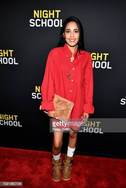 Sionger AdELA attends 'Night School' Atlanta Red Carpet Screening at Regal Atlantic Station on September 10 2018 in Atlanta Georgia