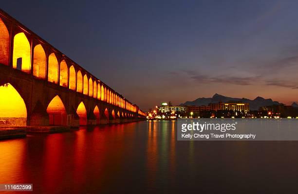 si-o-seh bridge - isfahan stock-fotos und bilder
