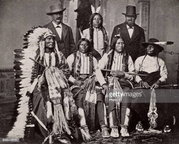 Sioux Chiefs after a meeting at the White House Washington USA c1877 North American Indian Indigenous people